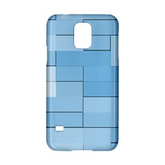 Blue Squares Iphone 5 Wallpaper Samsung Galaxy S5 Hardshell Case