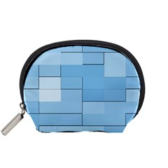 Blue Squares Iphone 5 Wallpaper Accessory Pouches (small)
