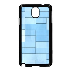 Blue Squares Iphone 5 Wallpaper Samsung Galaxy Note 3 Neo Hardshell Case (Black)