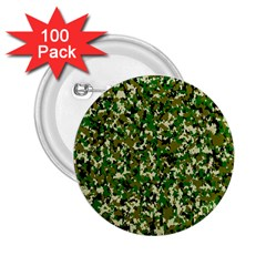 Camo Pattern 2.25  Buttons (100 pack)