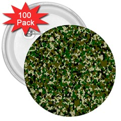 Camo Pattern 3  Buttons (100 pack)