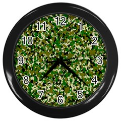 Camo Pattern Wall Clocks (black)