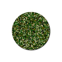 Camo Pattern Rubber Coaster (round)