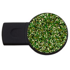 Camo Pattern USB Flash Drive Round (2 GB)