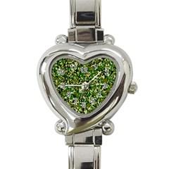 Camo Pattern Heart Italian Charm Watch