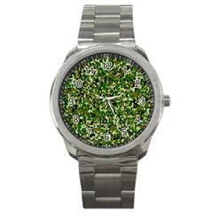 Camo Pattern Sport Metal Watch
