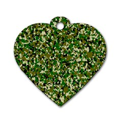 Camo Pattern Dog Tag Heart (One Side)
