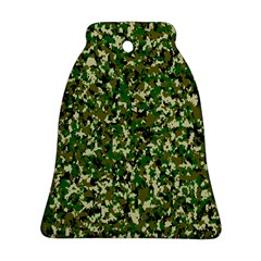 Camo Pattern Bell Ornament (two Sides)