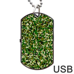 Camo Pattern Dog Tag Usb Flash (one Side)