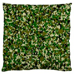Camo Pattern Large Cushion Case (one Side)