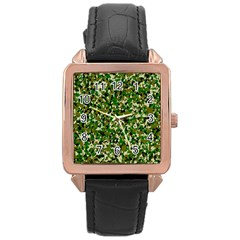 Camo Pattern Rose Gold Leather Watch