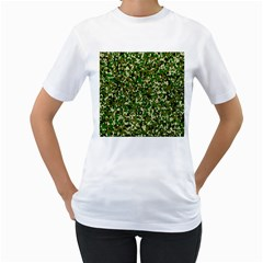 Camo Pattern Women s T-Shirt (White)
