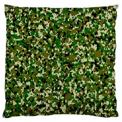 Camo Pattern Large Flano Cushion Case (two Sides)
