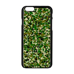Camo Pattern Apple iPhone 6/6S Black Enamel Case