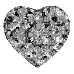 Camouflage Patterns Ornament (heart)