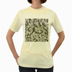 Camouflage Patterns Women s Yellow T-Shirt