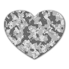 Camouflage Patterns Heart Mousepads