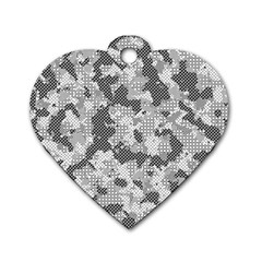 Camouflage Patterns Dog Tag Heart (Two Sides)