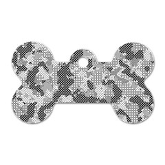 Camouflage Patterns Dog Tag Bone (Two Sides)