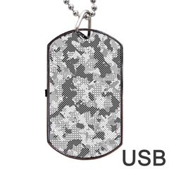 Camouflage Patterns Dog Tag USB Flash (One Side)