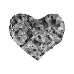 Camouflage Patterns Standard 16  Premium Flano Heart Shape Cushions