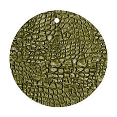 Aligator Skin Ornament (round)