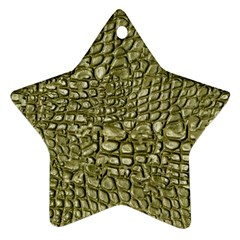 Aligator Skin Star Ornament (Two Sides)