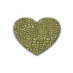 Aligator Skin Rubber Coaster (heart)