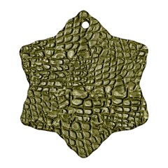 Aligator Skin Snowflake Ornament (Two Sides)