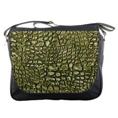 Aligator Skin Messenger Bags