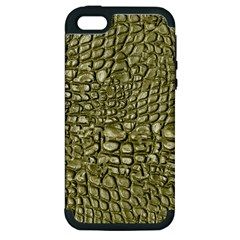 Aligator Skin Apple Iphone 5 Hardshell Case (pc+silicone)