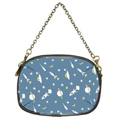 Space Rockets Pattern Chain Purses (one Side)