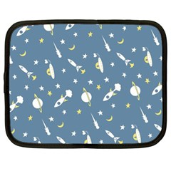 Space Rockets Pattern Netbook Case (xl)