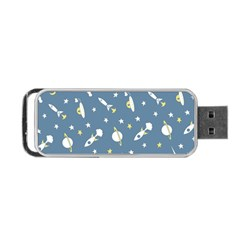 Space Rockets Pattern Portable USB Flash (Two Sides)
