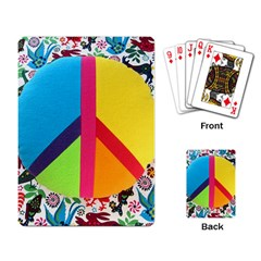 Peace Sign Animals Pattern Playing Card