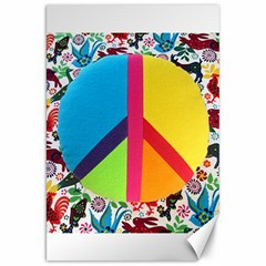 Peace Sign Animals Pattern Canvas 20  x 30