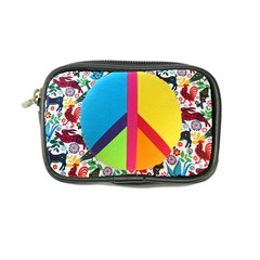 Peace Sign Animals Pattern Coin Purse