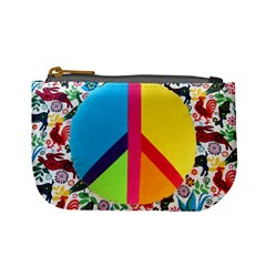Peace Sign Animals Pattern Mini Coin Purses