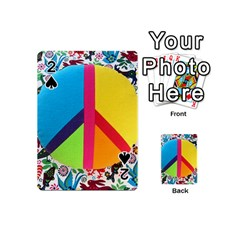 Peace Sign Animals Pattern Playing Cards 54 (mini)