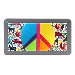 Peace Sign Animals Pattern Memory Card Reader (mini)