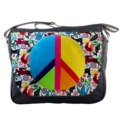 Peace Sign Animals Pattern Messenger Bags