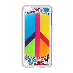 Peace Sign Animals Pattern Apple iPod Touch 5 Case (White)