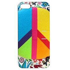 Peace Sign Animals Pattern Apple Iphone 5 Hardshell Case With Stand
