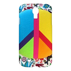 Peace Sign Animals Pattern Samsung Galaxy S4 I9500/I9505 Hardshell Case