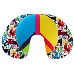 Peace Sign Animals Pattern Travel Neck Pillows