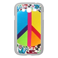 Peace Sign Animals Pattern Samsung Galaxy Grand Duos I9082 Case (white)