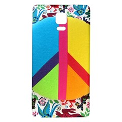 Peace Sign Animals Pattern Galaxy Note 4 Back Case
