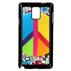 Peace Sign Animals Pattern Samsung Galaxy Note 4 Case (Black)