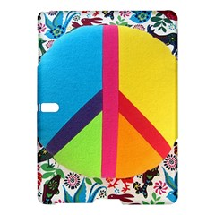 Peace Sign Animals Pattern Samsung Galaxy Tab S (10 5 ) Hardshell Case