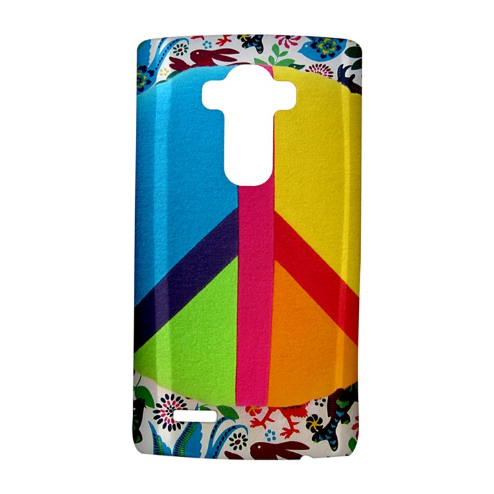 Peace Sign Animals Pattern LG G4 Hardshell Case